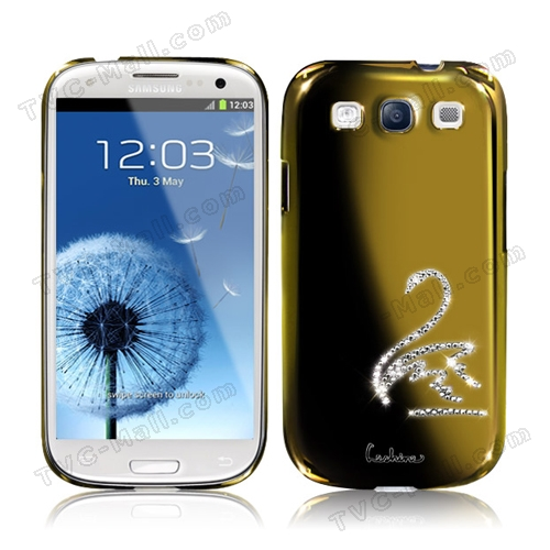 Eileen Swan Diamante Case for Samsung Galaxy S 3 / III I9300 I747 L710 T999 I535 R530 - Gold