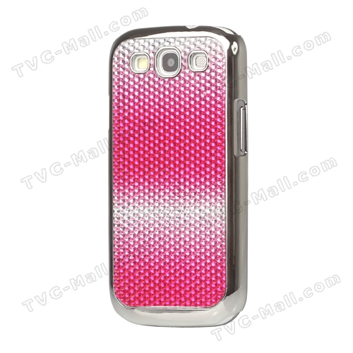 Rose Shade Rhinestone Bling Diamante Case for Samsung I9300 Galaxy S 3 / III (Tailor made)