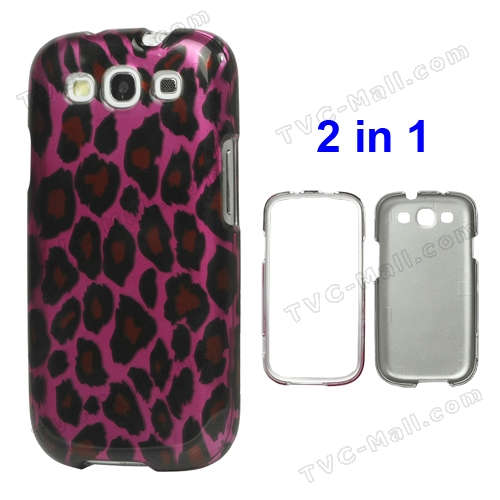 Snap-on Leopard Hard Plastic Case for Samsung Galaxy S 3 / III I9300 I747 L710 T999 I535 R530