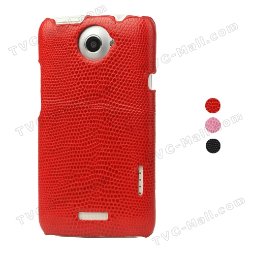 Snake Skin Leather Hard Case for HTC One X S720e / One XL / One X Plus