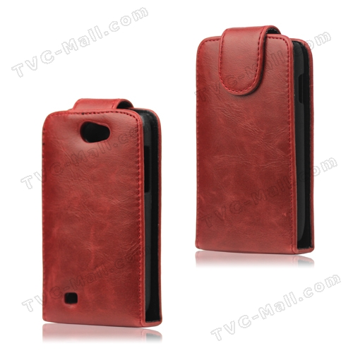 Glossy Leather Flip Case Cover for Samsung Galaxy W GT-I8150