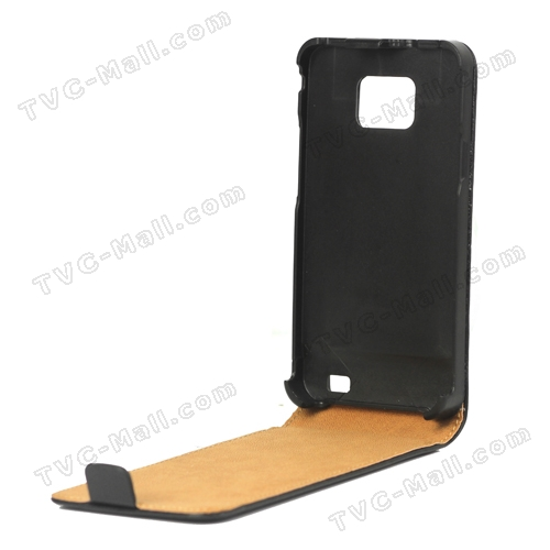 Premium Genuine Split Leather Flip Case for Samsung I9100 Galaxy S2 / IIum Leather Flip Case for Samsung I9100 Galaxy S2 / II