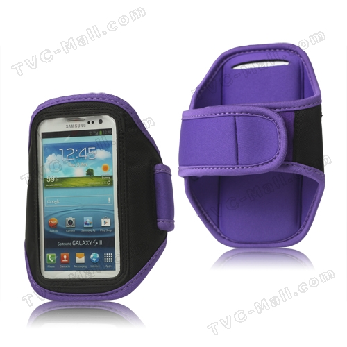Sport Gym Armband Case for Samsung Galaxy S 3 / III I9300 I747 L710 T999 I535 R530 - Purple