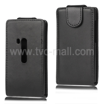 Vertical Leather Case with Magnetic Flip for Nokia N9 - Black