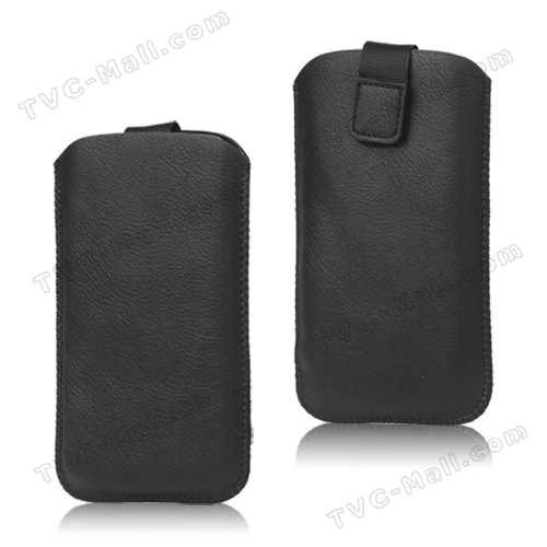 Pull Up Tab Leather Pouch Case for HTC One X  XL One X Plus / Sony LT26i