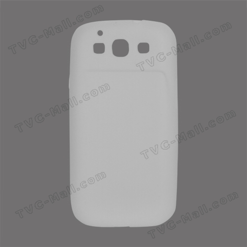 Flexible Silicone Skin Case for Samsung Galaxy S 3 / III I9300 I747 L710 T999 I535 R530 - White