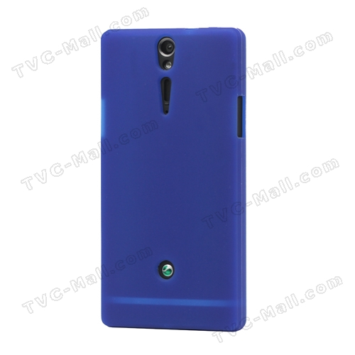 Sony Xperia S LT26i LT26a / Nozomi Silicone Skin Case Cover - Deep Blue