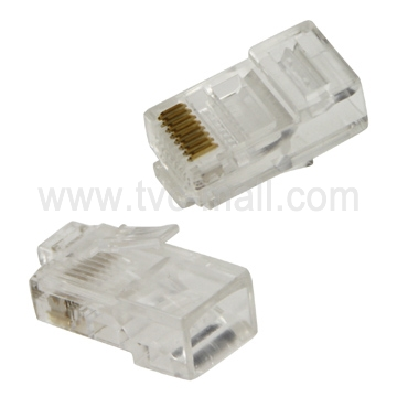 1000 Pcs RJ45 CAT5 8P8C Crystal Network Modular Connector (High quality)