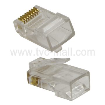 1000 Pcs RJ45 CAT5 Crystal Network Modular Connector 8P8C