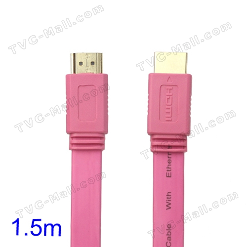 V1.4 1080P 1.5M HDMI M to M Video/Audio Cable PS3 XBOX360 Bluray Disc HDTV DVD - Pink