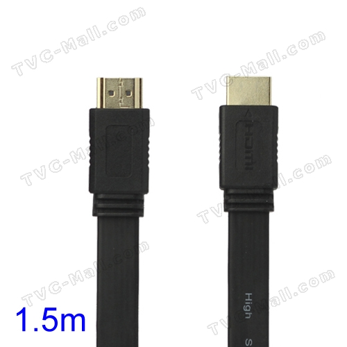 V1.4 1080P 1.5M HDMI M to M Video/Audio Cable PS3 XBOX360 Bluray Disc HDTV DVD - Black
