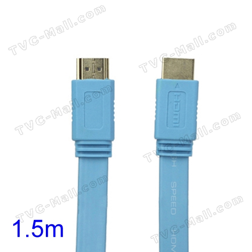 V1.4 1080P 1.5M HDMI M to M Video/Audio Cable PS3 XBOX360 Bluray Disc HDTV DVD - Blue