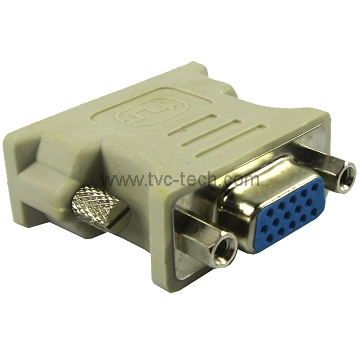 VGA 15Pin Female to DVI 24+5 Pin Male Adapter
