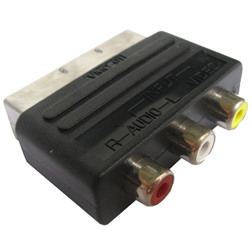 PCA-490, A/V to 20 Pin Male SCART Adapter