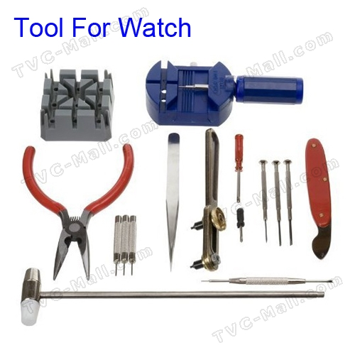 New 16pcs Deluxe Watch Opener Tool Kit Repair Pin Remover Adjust Strap