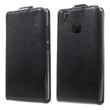 JR Vertical Flip Crazy Horse Leather Case for Doogee X5 Max - Black