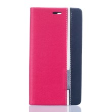 Two-color Leather Stand Case Cover for Doogee X5 - Rose