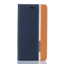 Two-color Phone Leather Stand Case for Doogee X5 Max - Dark Blue