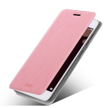 MOFI Rui Series Leather Case Stand Cover for Lenovo Sisley S90 - Pink