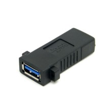 U3-258 USB 3.0 A Female to A Female Extension Keystone Jack Coupler Adapter for Wall Plate Panel USB Cable