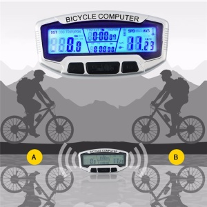 SUNDING SD-558A Wired Waterproof LCD Bicycle Bike Computer Odometer