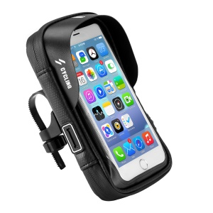 Waterproof Bicycle Bike Phone Bag Touch Screen Phone Case Cycling for Handlebar Bag - 6.0 inch