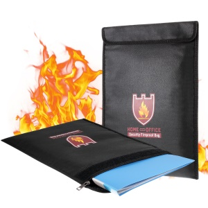 Fireproof Document Waterproof Passport Bag, Size: 28 x 38mm