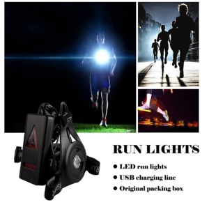 Outdoor Running Lights LED Night Flashlight USB Charge Chest Lamp