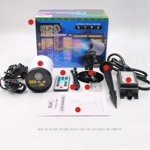 8 Patterns Christmas Projector Light Waterproof Projector Lamp for Garden Decoration - Old Version / US Plug