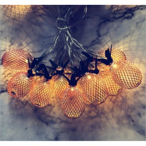 1.5M Pineapple String Lights 10-LED Fairy String Lights Battery Powered for Christmas Home Decoration - Rose Gold
