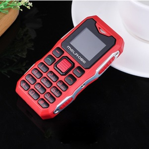 Mini Shockproof Children Student Mobile Phone HD Display 10 Days Standby Cell Phone - Red