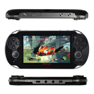 Handheld 4.3 inch Games Playstation 8G Video Game Console MP5 Player with Free 200 Games - Black / US Plug