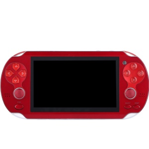 4.3 inch Handheld Video Game Console MP5 Media Player Games Playstation with Free 200 Games - Red / EU Plug
