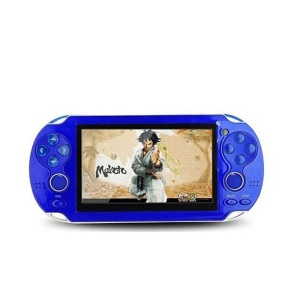 4.3 inch Color Screen PSP Video Game Console Handheld Games Playstation for Kids - Blue / EU Plug