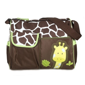 Green Giraffe Pattern Large Capacity Babysitting Bag Diaper Bag