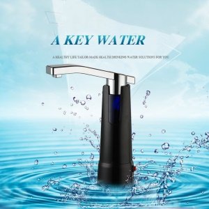 Electric Water Bottle Pump Dispenser with Rechargeable Battery - Black
