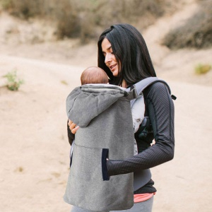Ergonomic Front Baby Infant Hoodie Carrier Toddler with Front Pocket - Grey