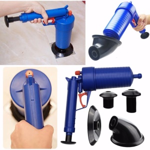 Home Toilet Floor Drain Canalisation Air Power Plunger Blaster Pump Cleaner with 4 Suckers