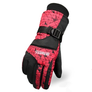 Winter Ski Gloves Outdoor Sports Comfortable Windproof Snowboard Gloves or Ski Gloves - Women / Red