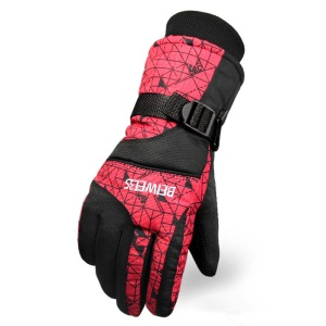 Winter Hot Ski Gloves Outdoor Sports Comfortable Windproof Ski Gloves - Man / Red