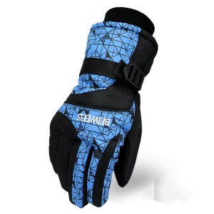 Winter Hot Ski Gloves Outdoor Sports Comfortable Windproof Snowboard Gloves - Man / Blue
