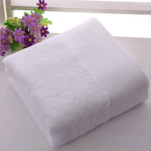 100% Cotton Soft Thick Absorbent Luxury Bath Towel 80 x 160cm - Pure White