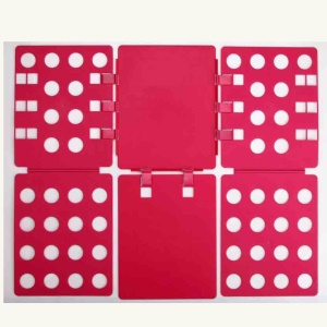Large Adult T-Shirts Laundry Storage Folding Board Fast Clothes Folder - Red