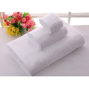 3Pcs/Set Thickened Cotton Absorbent Luxury Bath Towel Sheet - Pure White