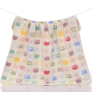 6 Layers Baby Cotton Gauze Bath Towel Blanket 110x115cm - Chinese Zodiac