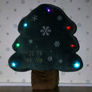 Christmas Tree Shaped Soft Cushion Comfortable Plush Pillow Stuffed Plush Toy Doll Seat Pad, Size: 22cm