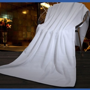 Pure Cotton Soft White Hotel Bath Tower Sheet for Hotel Home Pool, Size: 150 x 70cm; Weight: 600g