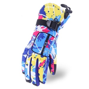 Women Winter Ski Gloves Outdoor Sports Comfortable Windproof Snowboard Gloves or Ski Gloves - Blue