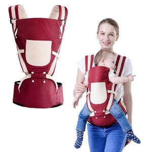 BABY LAB Soft Structured Ergonomic Sling Baby Carrier Front and Back Baby Bag - Red