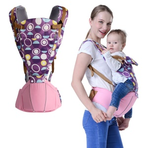 BABY LAB Circles Pattern Soft Structured Ergonomic Sling Baby Carrier Front and Back Baby Bag - Pink